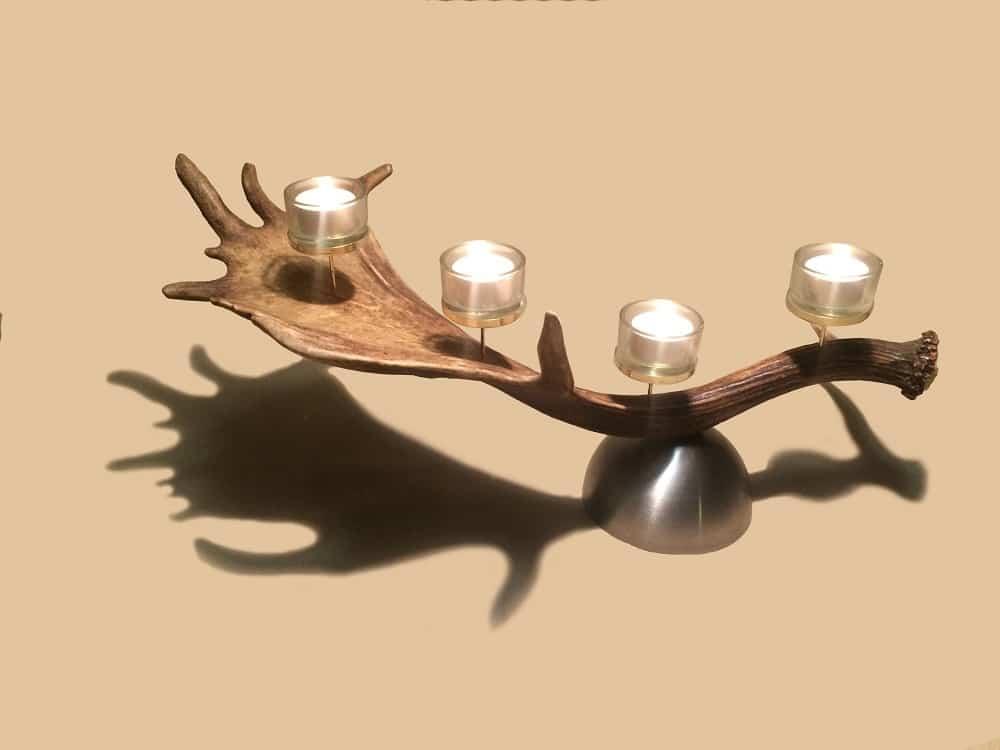 teelichthalter2 1 oh my deer hirschgeweih deko geweihlampen geweihm bel uvm. Black Bedroom Furniture Sets. Home Design Ideas