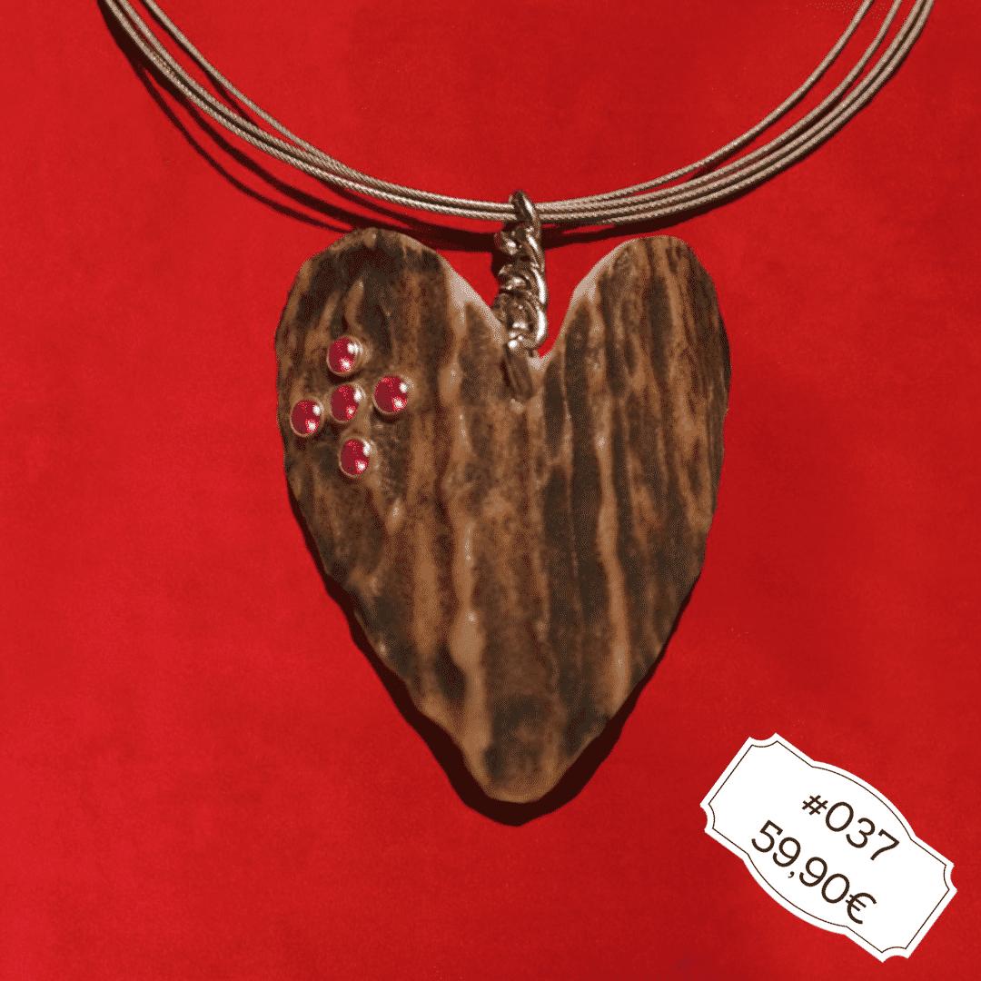 Hirschgeweih Trachtenschmuck Halskette Herz