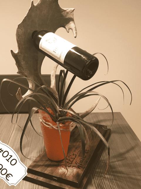 Edler Weinflaschenhalter Damhirsch