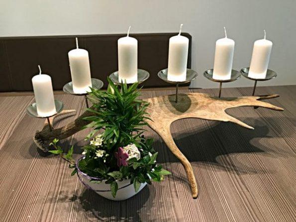 Damhirsch Kerzenhalter silber individuelles Geschenk für Jäger