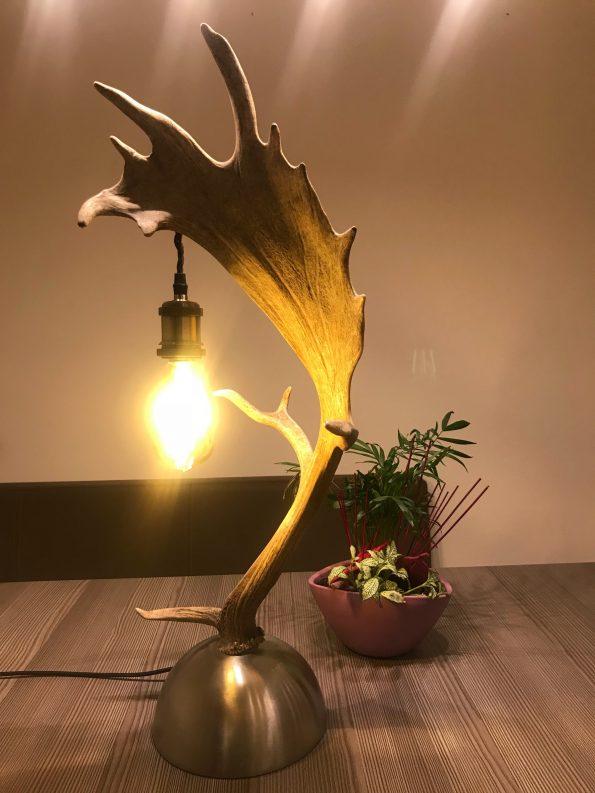 Geweih Stehlampe Damhirsch Vintage