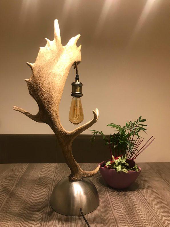 Geweih Stehlampe Damhirsch Geschenk für jeden Jäger